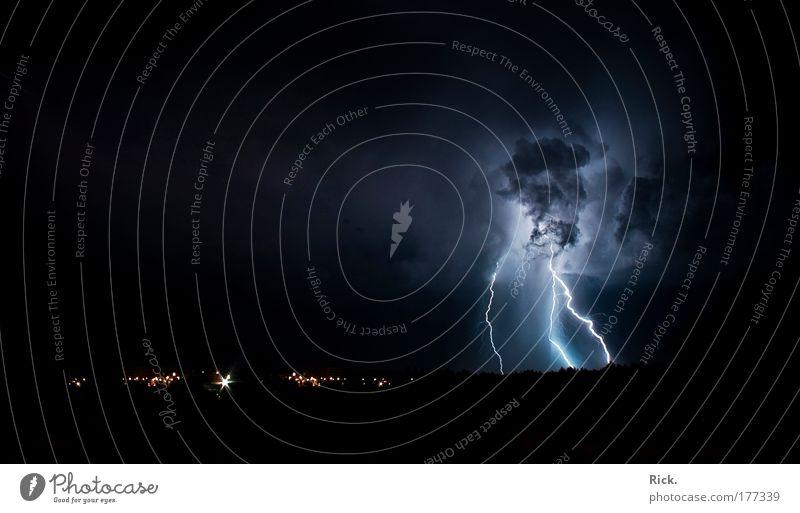 .Wärmegewitter 2.0 reloaded Natur Sommer Wolken kalt Landschaft Angst Wind Umwelt Energie Elektrizität Klima Nachthimmel Wut Sturm Blitze Gewalt