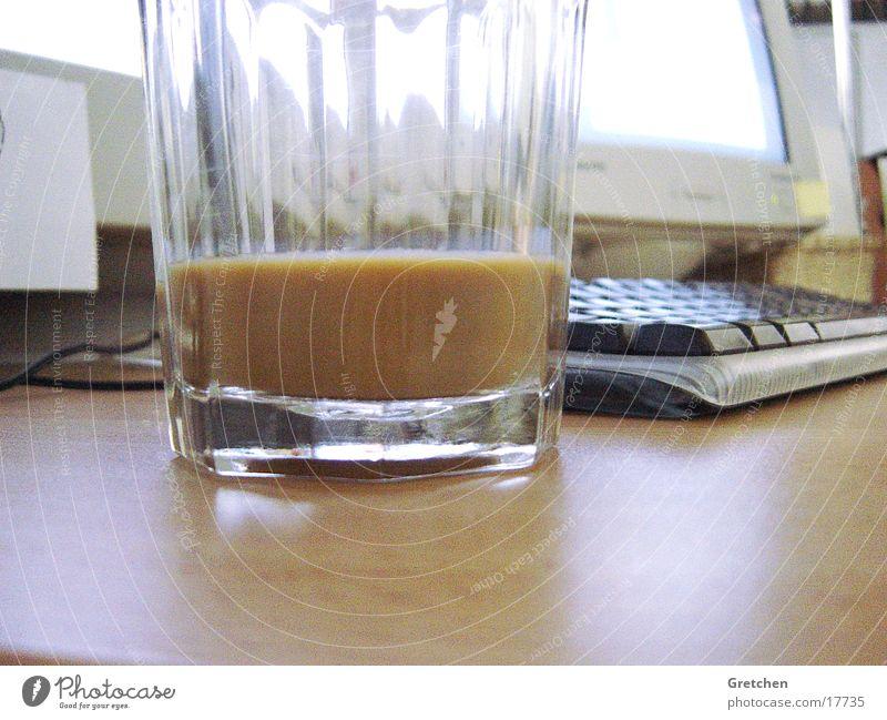 Kalter_Kaffee Computer Glas Kaffee Tastatur Informationstechnologie