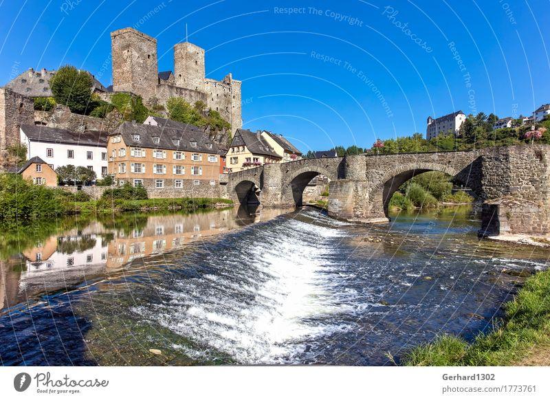 Schloss Runkel an der Lahn Ferien & Urlaub & Reisen Wasser Erholung Berge u. Gebirge Tourismus wandern Ausflug Fahrradfahren Brücke Fluss Fahrradtour