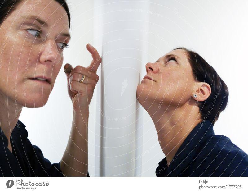 Der Schweinehund und die Nerven Mensch feminin Frau Erwachsene Schwester Freundschaft Leben Gesicht 2 30-45 Jahre Kommunizieren außergewöhnlich Gefühle Stimmung