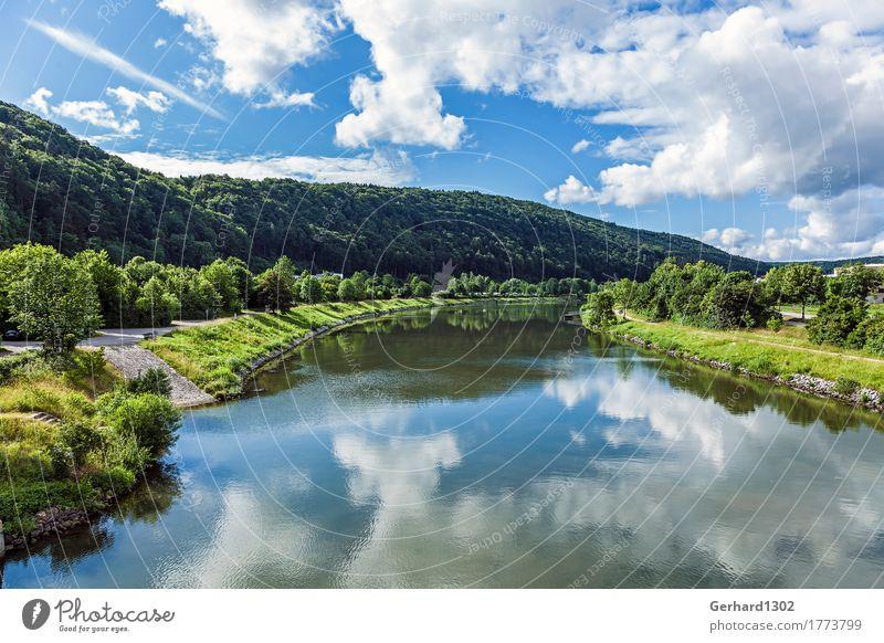 Sommerstimmung im Altmühltal bei Riedenburg Tourismus Ausflug Fahrradtour Sommerurlaub Berge u. Gebirge wandern Natur Wasser Wald Hügel Flussufer Verkehrswege