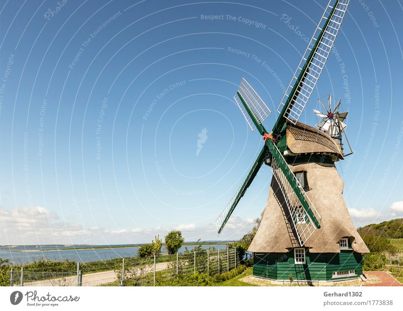 Windmühle Charlotte Naturschutzgebiet Geltinger Birk Ferien & Urlaub & Reisen Tourismus Ausflug Fahrradtour Sommerurlaub wandern Umwelt Landschaft Wasser Küste