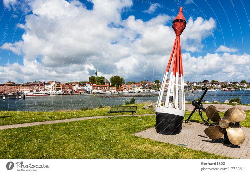 Hafenpanorama von Kappeln an der Schlei Natur Ferien & Urlaub & Reisen Stadt Sommer Wasser Küste Tourismus wandern Ausflug Ostsee Panorama (Bildformat)