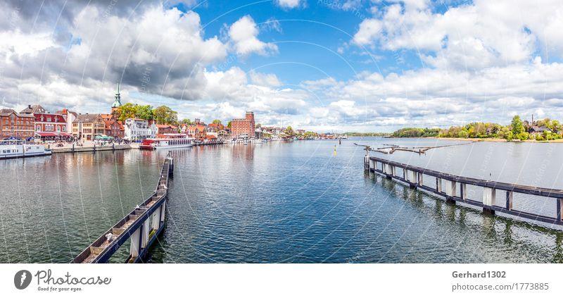 Panorama der Schlei und des Hafens in Kappeln Ferien & Urlaub & Reisen Stadt Wasser Meer Umwelt Küste Tourismus wandern Ausflug Fahrradtour Ostsee