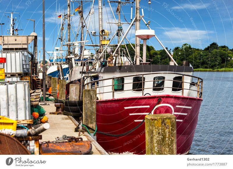 Fischkutter am Kai im Fischereihafen in Kappeln Natur Ferien & Urlaub & Reisen Stadt Wasser Küste Tourismus wandern Ausflug Fahrradtour Ostsee Hafen