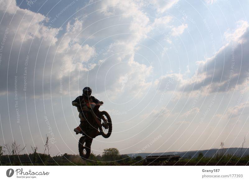 Cross Sequenz 1 Sport springen Umwelt Motorrad sportlich Sportveranstaltung Sportler Helm Verkehrsmittel Motorsport