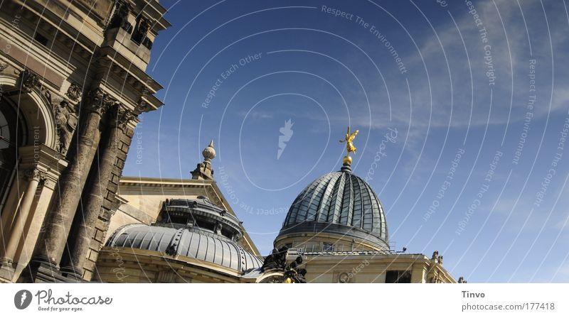 Dresden beflügelt alt Architektur Kunst Kirche Kultur historisch Sehenswürdigkeit Neigung Hauptstadt Altstadt