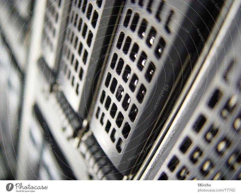 von unten Server Schrank Elektrisches Gerät Technik & Technologie Strukturen & Formen