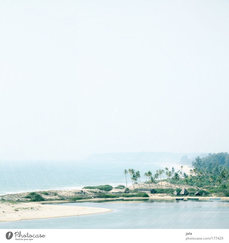 destination for a day trip Himmel Natur Wasser blau Sommer Strand Ferien & Urlaub & Reisen Meer Ferne Erholung Landschaft Küste hell Zufriedenheit frei Unendlichkeit