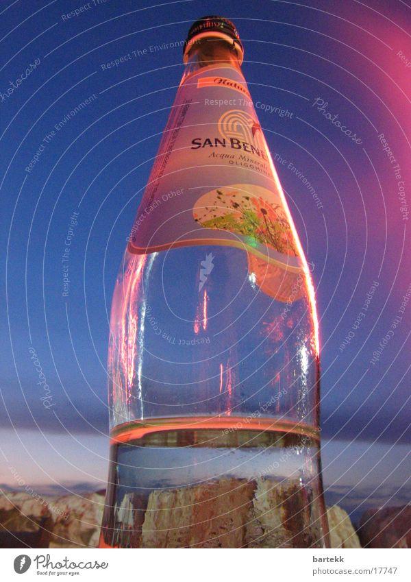 wasserflasche Meer Italien Langzeitbelichtung Dinge Flasche Wasser Himmel