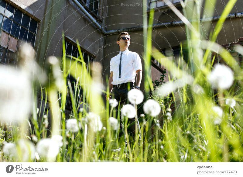 Pustekuchen Mensch Mann Natur Jugendliche schön Erwachsene Leben Umwelt Freiheit Gefühle Stil Gebäude Traurigkeit träumen Mode Gesundheit