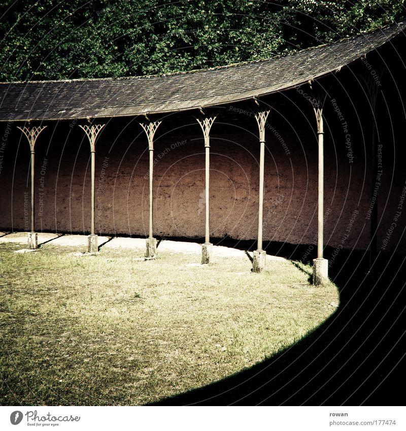 rund alt Sommer Wand Gras Garten Mauer Park Gebäude Wärme Raum Architektur Kreis Platz retro rund