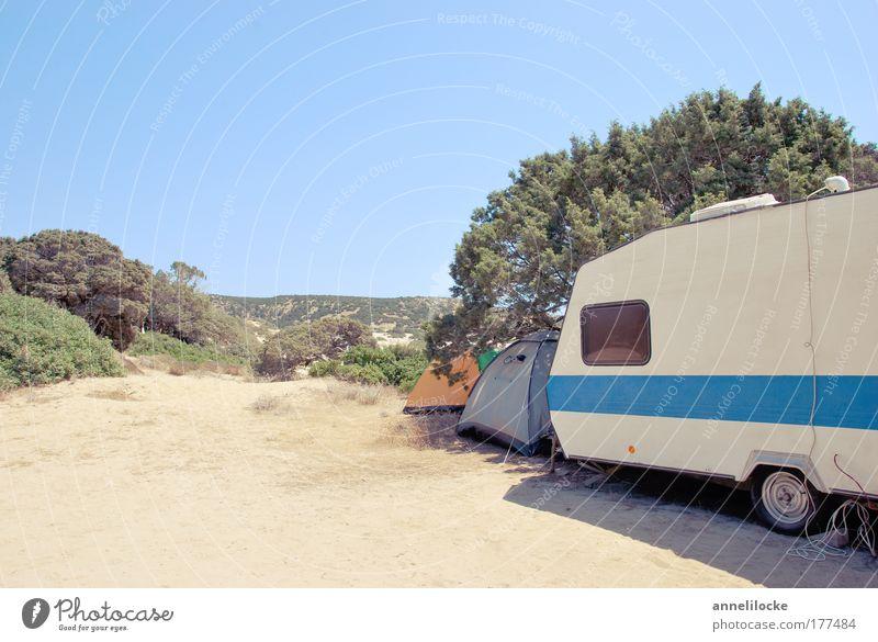 camping nostalgica Farbfoto Außenaufnahme Menschenleer Textfreiraum oben Textfreiraum unten Tag Totale Freizeit & Hobby Ferien & Urlaub & Reisen Tourismus