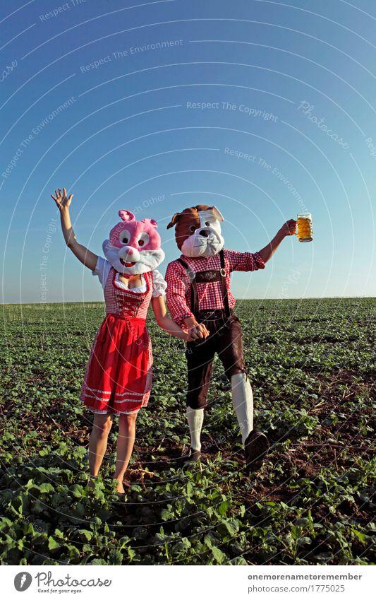Oktoberfest - zusammen Kunst Kunstwerk ästhetisch Bayern Bier Partystimmung Bierglas Bierschaum Bierkrug Kostüm Tracht Unsinn Kreativität Freude spaßig