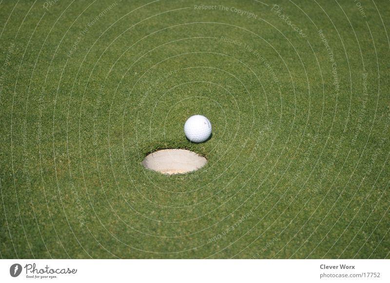golfplatz #1 Golfball Gras grün Platz