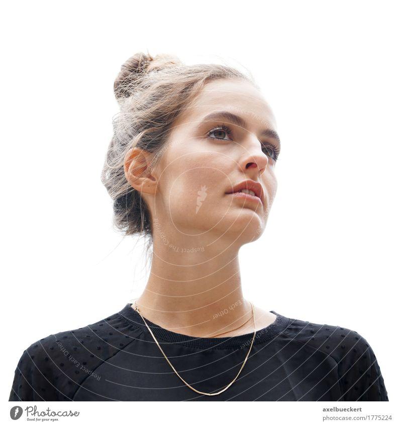 Mensch Frau Jugendliche schön Junge Frau ruhig 18-30 Jahre Erwachsene feminin Stil hell nachdenklich frisch Coolness brünett selbstbewußt