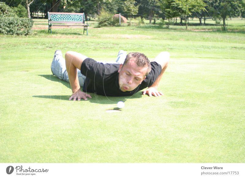 golfplatz #2 Golfball Gras grün Platz
