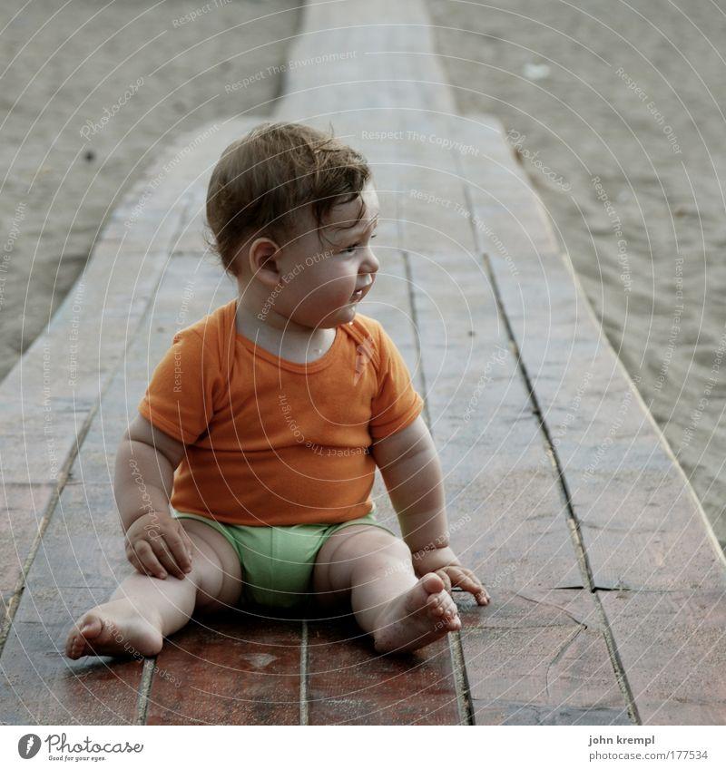 ciao bella Sommer Strand Ferien & Urlaub & Reisen Meer Ferne Leben Freiheit Glück Sand träumen braun Zufriedenheit Baby warten sitzen Ausflug