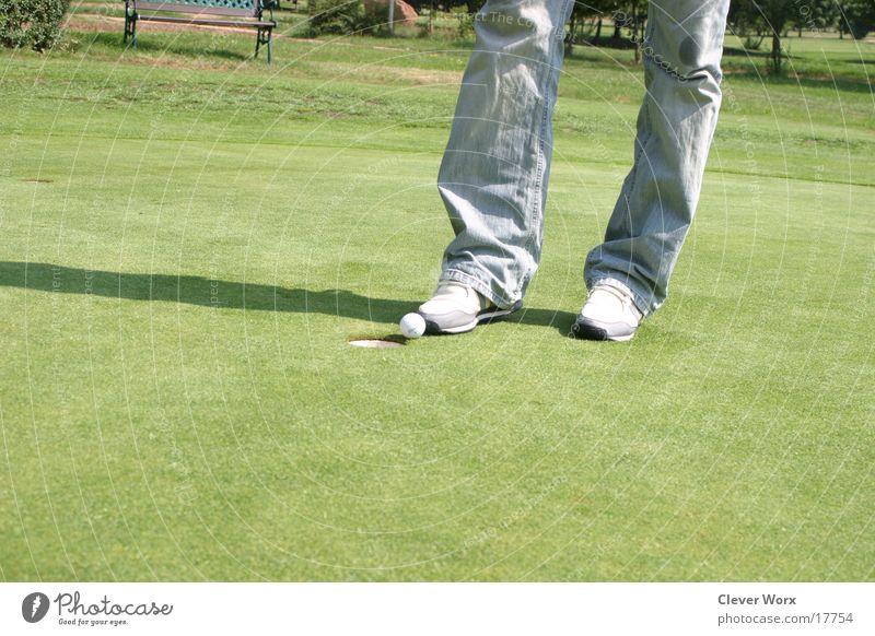 golfplatz #4 grün Gras Platz Golf Golfball