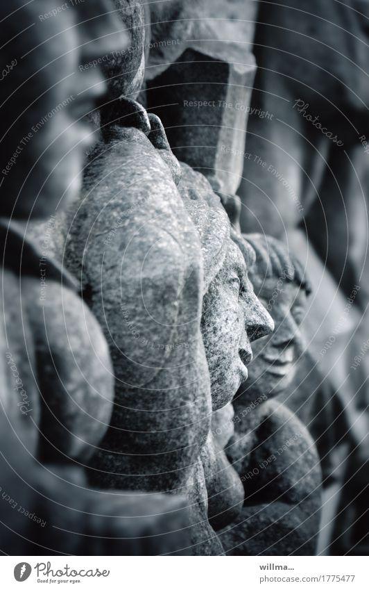 bildende kunst I Kunst Kunstwerk Skulptur Relief Bildende Kunst Stein historisch Gesicht Kindergruppe Kindheit Kalkstein Sozialismus Kommunismus Fröhlichkeit