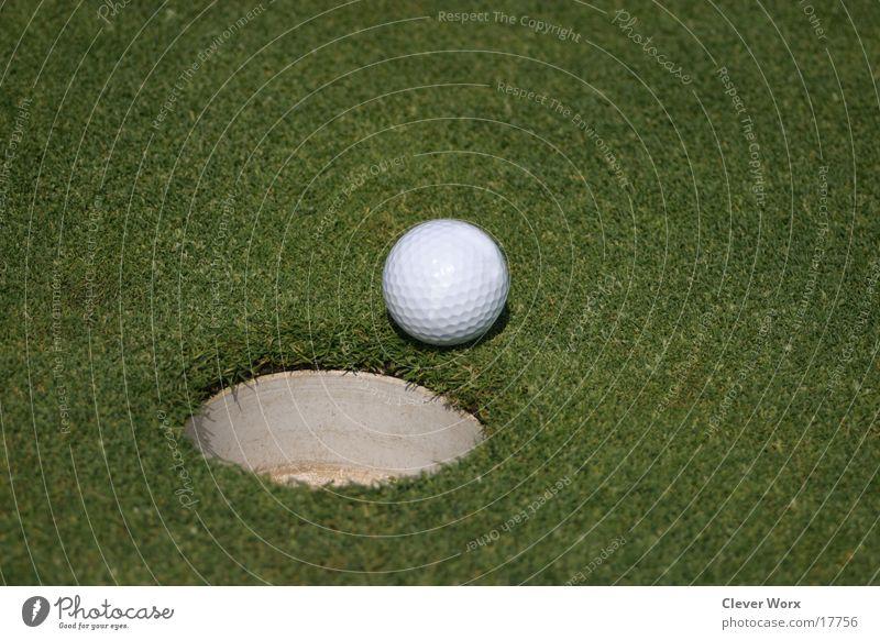 golfplatz #5 Golfball Gras grün Platz