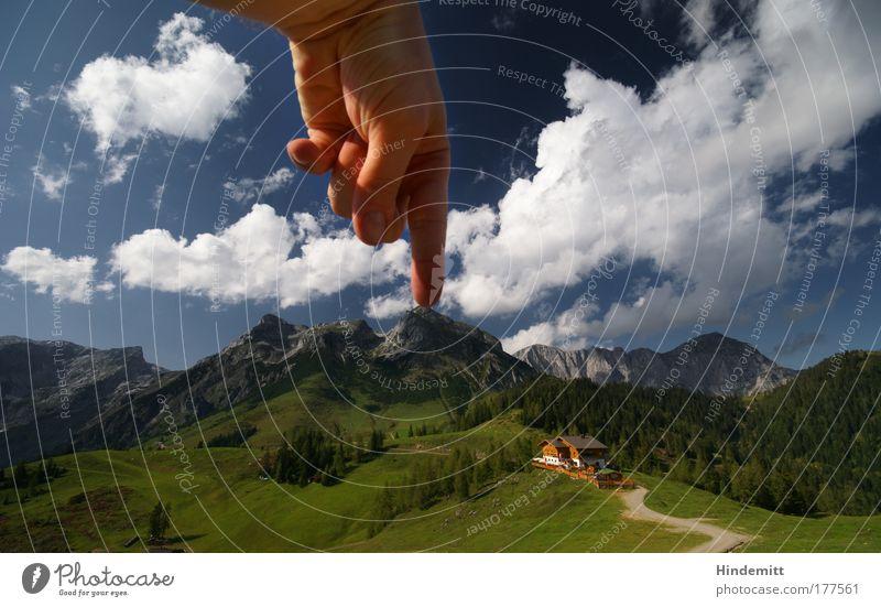 Autsch | Reloaded Natur Himmel grün blau Sommer Freude Ferien & Urlaub & Reisen Wolken Einsamkeit Erholung Berge u. Gebirge grau Kraft wandern groß Ausflug