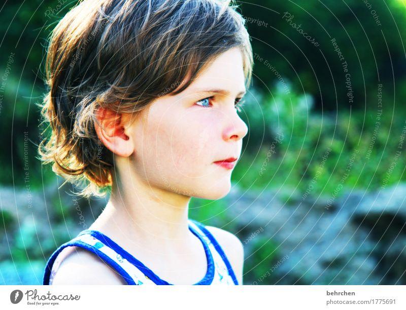 prima klima | zum groß werden... Mensch Kind schön Freude Gesicht Auge Junge Familie & Verwandtschaft Spielen Haare & Frisuren Kopf wild träumen Zufriedenheit
