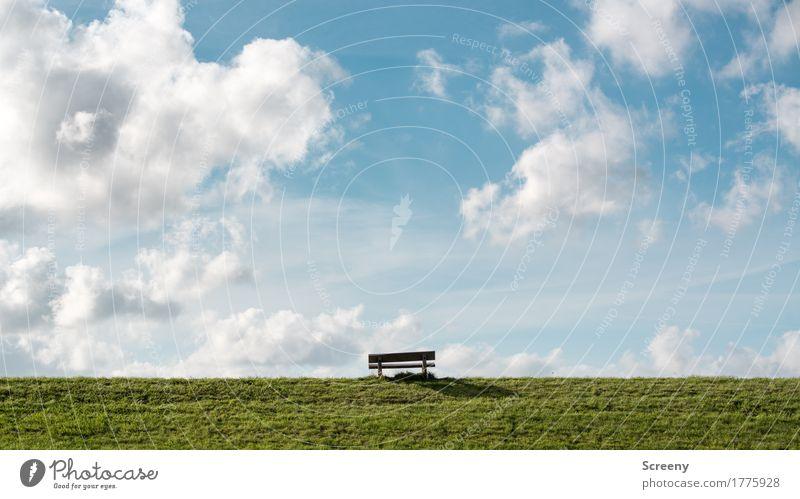 Beste Aussicht garantiert... Himmel Natur Ferien & Urlaub & Reisen Sommer Sonne Landschaft Wolken ruhig Ferne Gras Küste Freiheit Tourismus Ausflug
