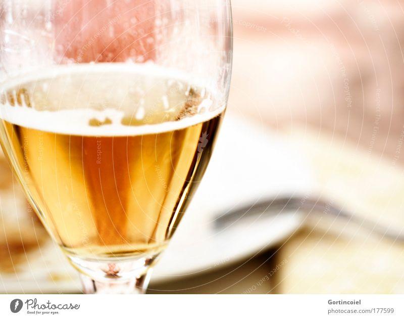 Speisen wie bei Königs Abendessen Getränk Erfrischungsgetränk Alkohol Bier Glas Bierschaum Bierglas Restaurant Feste & Feiern genießen gelb gold weiß edel