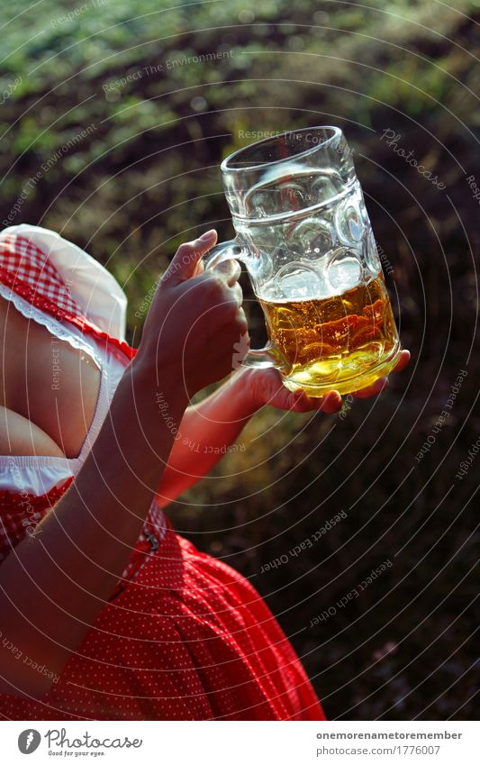 Oktoberfest - Good Stuff Getränk ästhetisch Frauenbrust Kleid Bier Biergarten Bierglas Bierschaum Bierkrug Kellner Dienstleistungsgewerbe Gastronomie