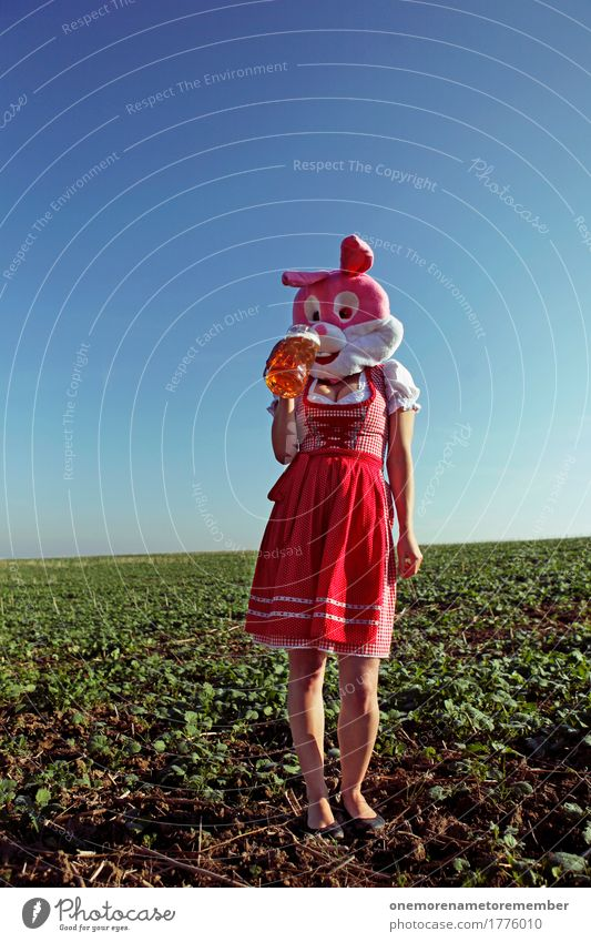 Oktoberfest - Schlürf Getränk Kunst Kunstwerk ästhetisch Körperhaltung trinken lecker Kleid Trachtenkleid rot feminin Kostüm Karneval Bier Biergarten Bierglas