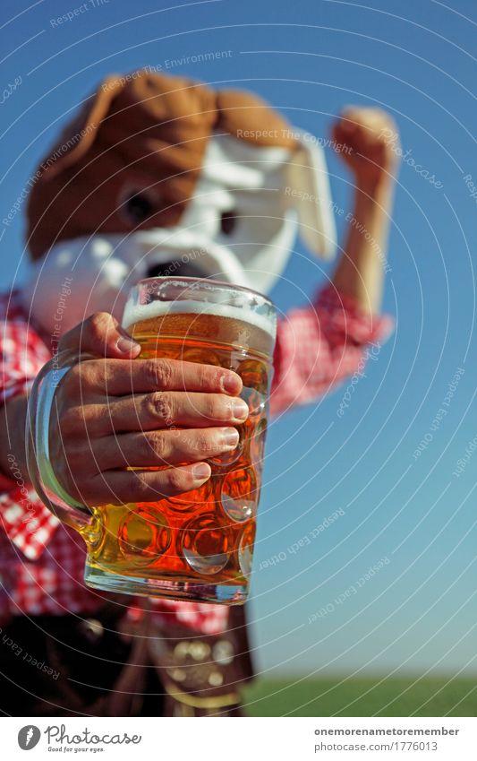 Oktoberfest - Bier! Kunst Kunstwerk ästhetisch Biergarten Bierglas Bierschaum Bierkrug Tradition Bayern Tracht München Hund Kostüm Freude spaßig Spaßvogel