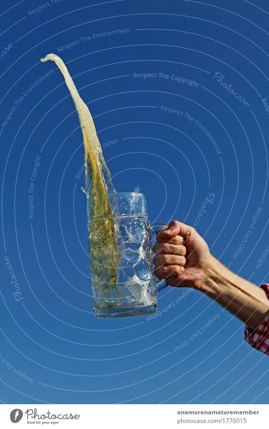 Oktoberfest - Prost! Kunst ästhetisch Bier Biergarten Bierglas Bierschaum Bierkrug Zuprosten Glas Getränk lecker Durst Durstlöscher Hand festhalten übertreiben