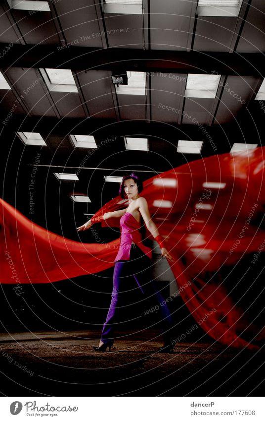 Miss GlamourFly Frau Mensch Jugendliche schön rot Erwachsene feminin Haare & Frisuren Stil Mode Kunst Tanzen rosa elegant Erfolg Lifestyle