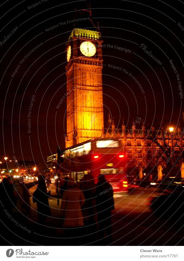 big ben bei nacht London Big Ben Nacht Dämmerung Nachtleben Architektur Ferien & Urlaub & Reisen