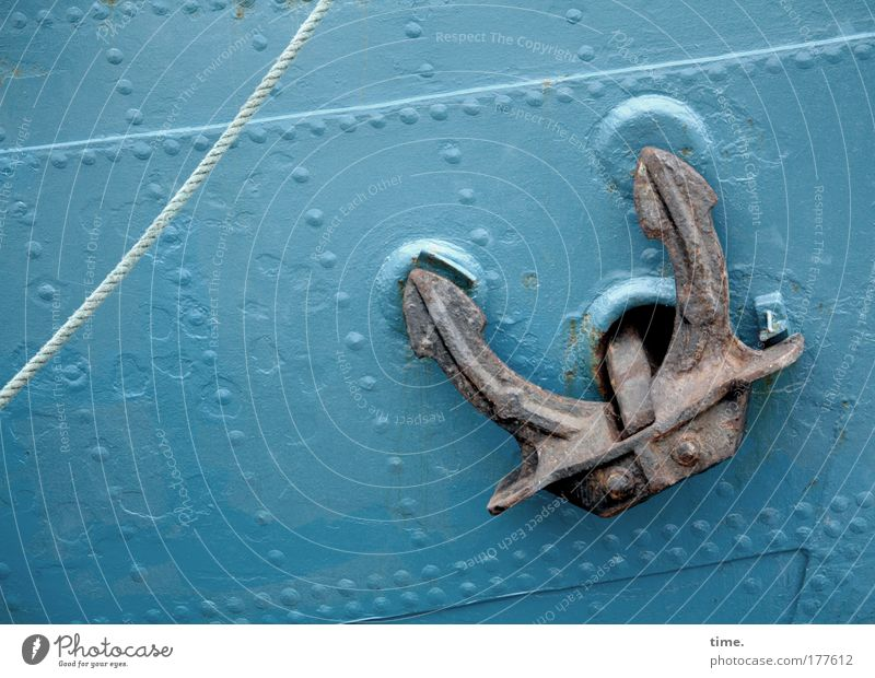 [KI09.1] - Handbremse blau Wasserfahrzeug Seil Sicherheit Rost türkis Blech Anker passend Schweißnaht Fahrzeugteile