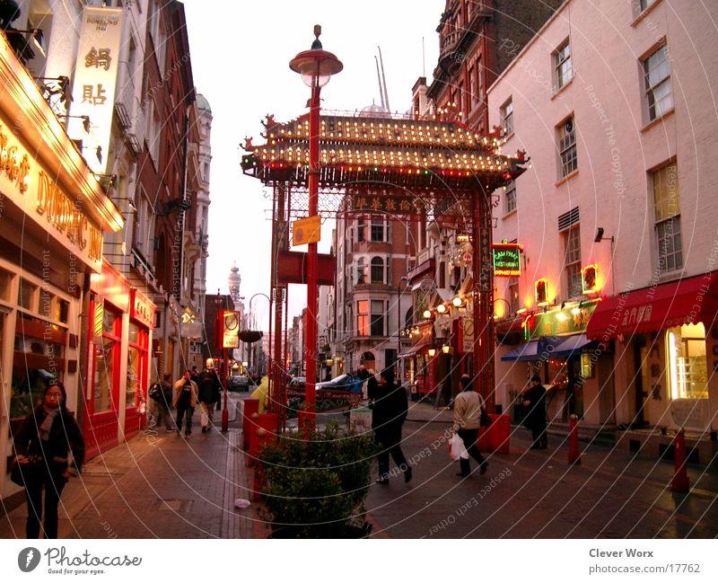 London china Town Architektur England China Tor Großbritannien Chinatown