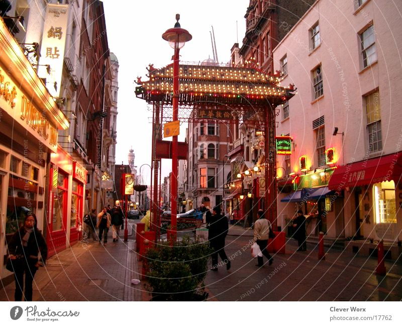 London china Town Architektur England China Tor Großbritannien Chinatown