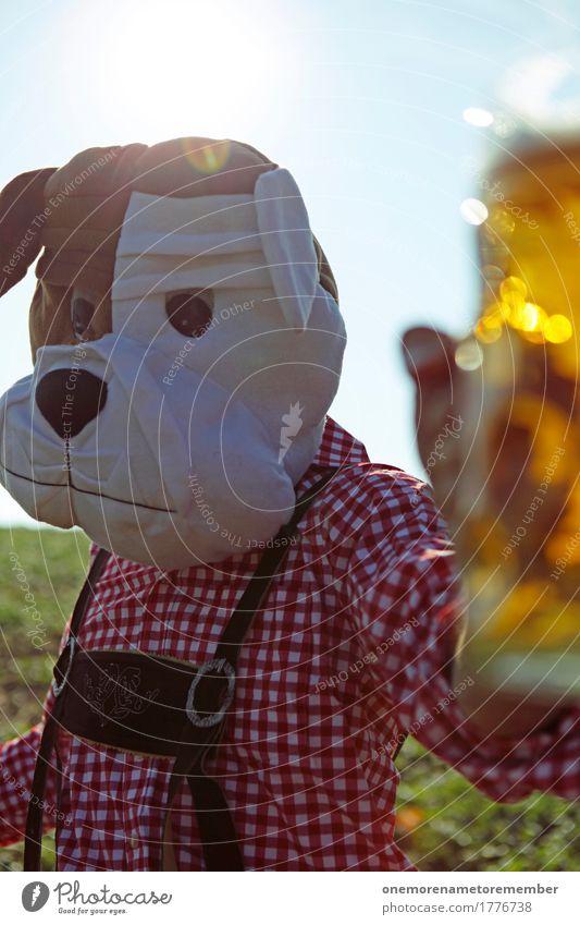 Oktoberfest - Auf Ihn! Hund Mann Sommer Kunst ästhetisch Symbole & Metaphern Bier München Tradition Bayern Tracht Biergarten Bierkrug Zuprosten Partystimmung