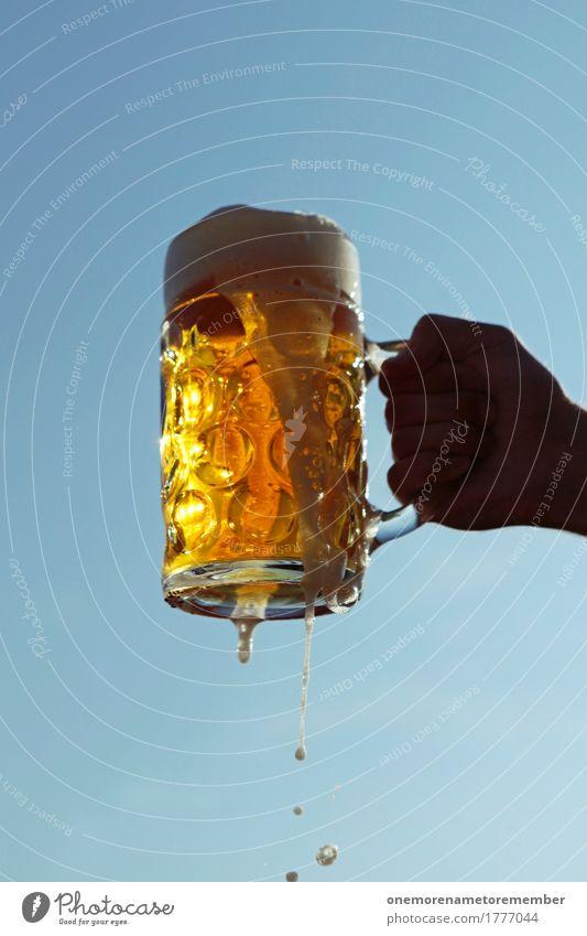 Oktoberfest - Prooost! Kunst gold ästhetisch Getränk lecker festhalten stoppen Bier Bayern Durst Erfrischungsgetränk Durstlöscher Biergarten Bierkrug Zuprosten