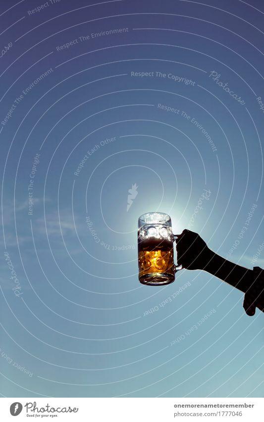 Oktoberfest - Sonnenmaß Kunst Feste & Feiern Glas gold ästhetisch Bier Alkohol Alkoholisiert Kunstwerk Biergarten Bierkrug Zuprosten Partystimmung Alkoholsucht