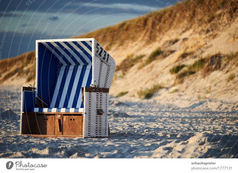 Ruh dich aus #1 Himmel Ferien & Urlaub & Reisen blau Sommer weiß Landschaft Meer Einsamkeit Wolken ruhig Strand Küste Freiheit braun Tourismus Freizeit & Hobby