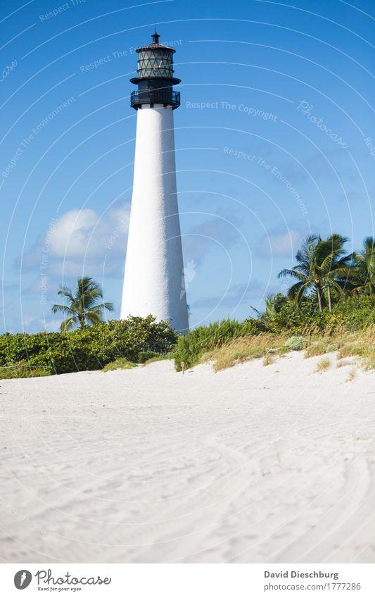 Lighthouse Himmel Ferien & Urlaub & Reisen Pflanze blau Sommer grün weiß Sonne Landschaft Meer Erholung Wolken Ferne Strand Küste Tourismus