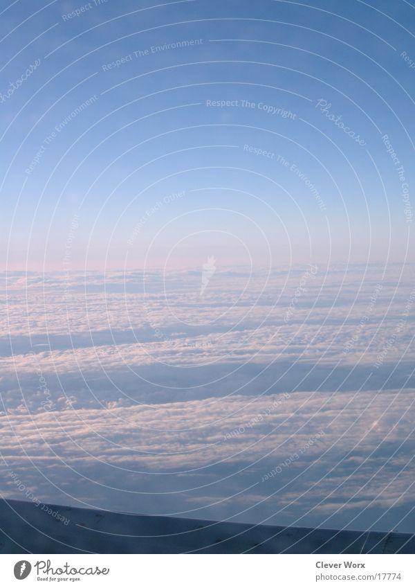 fluglinie 1 Himmel Wolken Flugzeug Luftverkehr Flügel