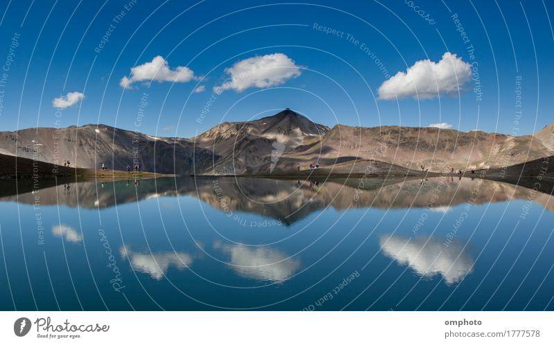 Hoher Bergsee Himmel Natur Ferien & Urlaub & Reisen blau Sommer schön Landschaft Wolken Berge u. Gebirge See Felsen Tourismus Park wandern Aussicht Europa