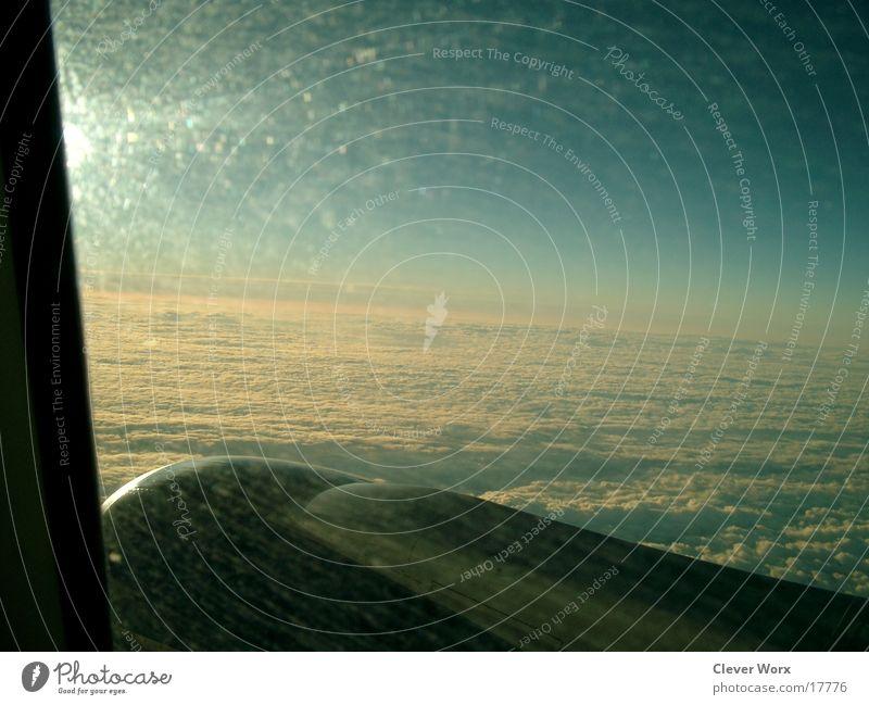 flugnummer 3 Himmel Wolken Flugzeug Luftverkehr Flügel
