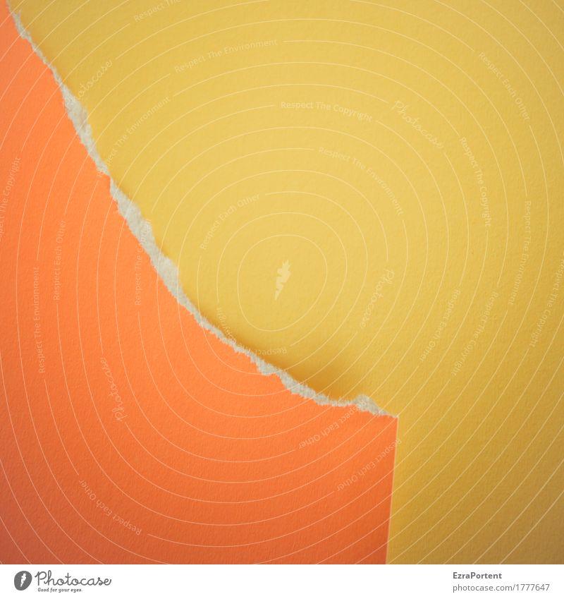 letzter Abriss Farbe gelb Hintergrundbild Stil orange Design Linie Textfreiraum Dekoration & Verzierung Papier Grafik u. Illustration Werbung graphisch Riss