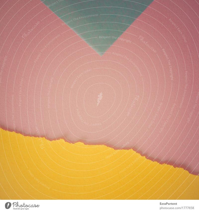 b>P~g Stil Design Dekoration & Verzierung Kunst Papier Zeichen Schilder & Markierungen Linie Pfeil Streifen blau gelb rosa türkis Farbe Werbung Hintergrundbild