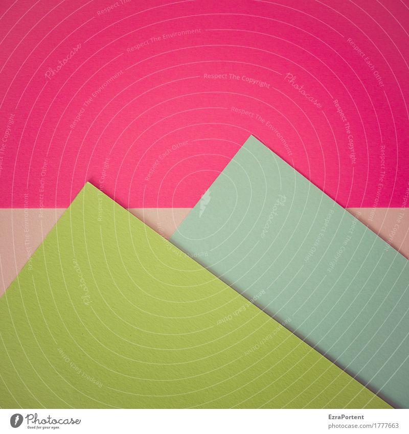 K2 vs. Mount Everest elegant Stil Design Dekoration & Verzierung Kunst Kunstwerk Hügel Alpen Berge u. Gebirge Gipfel Papier Zeichen Linie Streifen eckig blau