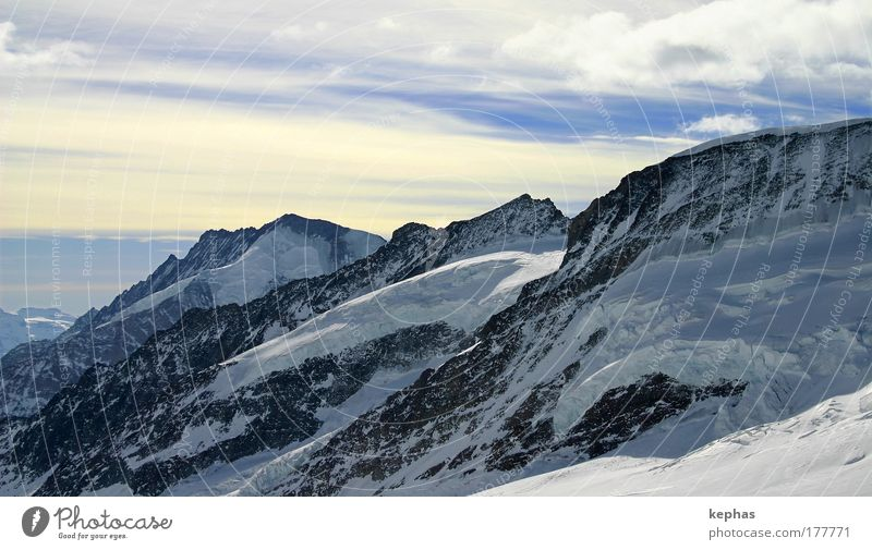 3471m üNN Himmel weiß blau Winter gelb Schnee Berge u. Gebirge Landschaft Eis Felsen Frost Alpen Gipfel Schönes Wetter Gletscher Schneebedeckte Gipfel